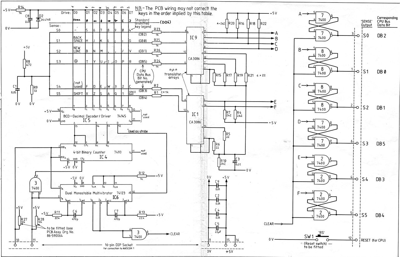 Nascom Circuit Diagrams Never Ending Construction Diagram Xml Keyboard Circuitry